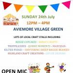 Village Craft Fair  –   Sunday 24th July
