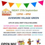 Village Craft Fair –  Sunday 17th September